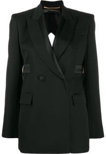 Versace Blazer Com Abertura Posterior - Preto