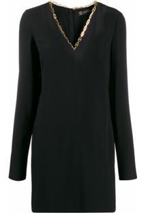 Versace Vestido Decote V - Preto
