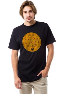 Camiseta Manga Curta C1Rca Preto