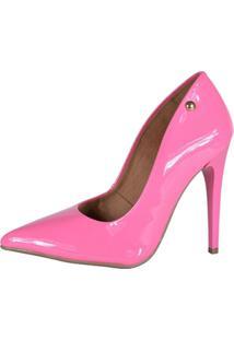 Scarpin Factor Fashion Salto Alto - Feminino-Rosa