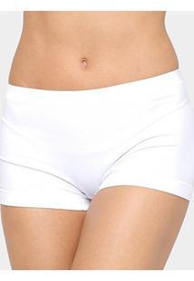 Calcinha Boxer Lupo Loba Sem Costura - Feminino-Branco