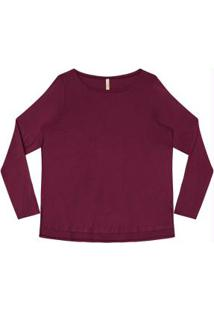 Blusa Malha Thirty Plus Bordo Witch
