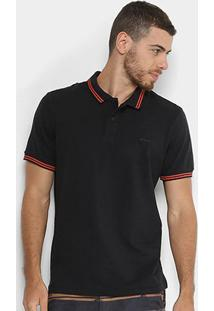 Camisa Polo Sommer Clássica Masculina - Masculino-Preto