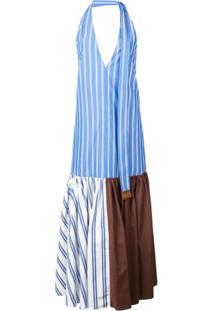 Tibi Blusa Listrada 'Vivian' - Azul
