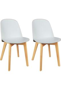 Conjunto Com 2 Cadeiras Wave Branco