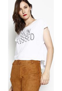 """Camiseta """"Sun Kissed""""- Branca & Pretadzarm"""