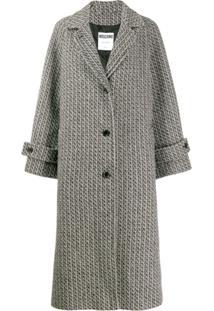 Moschino Casaco De Tweed Com Abotoamento Único - Cinza