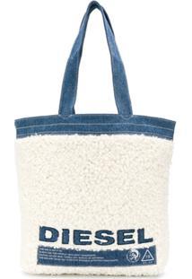 Diesel Bolsa Tote Com Estampa De Logo - Azul