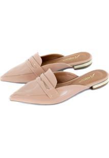 Sapato Alta Villa Shoes Mule Bico Fino Rosê