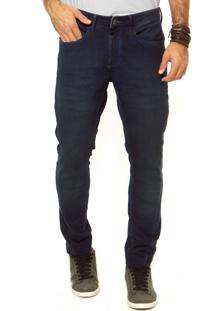 Calça Calvin Klein Jeans Reta Azul