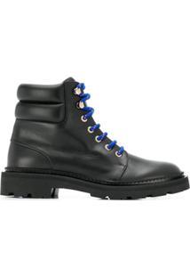 Bally Ankle Boot Com Cadarço - Preto