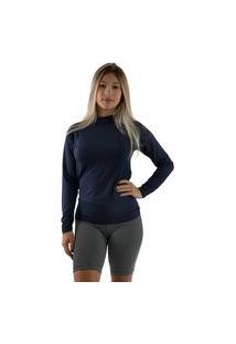 Blusa Térmica Diluxo Camisa Segunda Pele Uv Azul Marinho