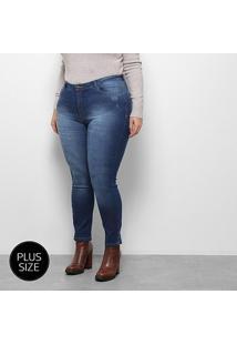Calça Jeans Razon Cigarrete Plus Size Feminina - Feminino