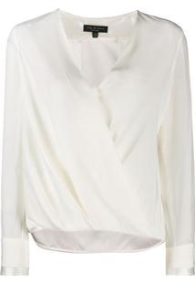 Rag & Bone Blusa Com Transpasse - Branco