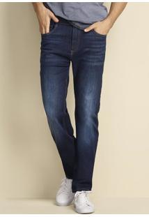Calça Jeans Tradicional Masculina Em Algodão Soft Touch