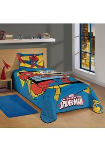 139028dfb8 ... Colcha Solteiro Spider-Man Ultimate Lepper Azul Azul
