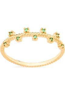 Anel Skinny Ring Zircônias Intercaladas Rommanel - Feminino-Verde