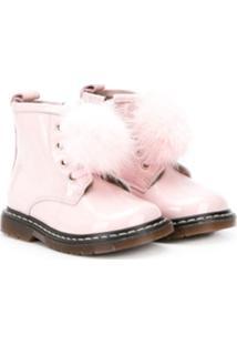 Monnalisa Ankle Boot Com Pompom - Rosa