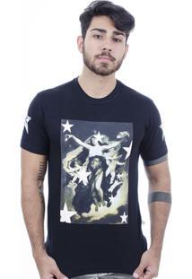 Camiseta Hardivision Lady Of Stars Manga Curta - Masculino