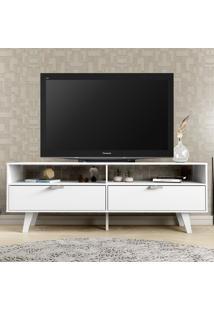 Rack Para Tv 2 Portas Basculantes Oslo Branco - Madesa