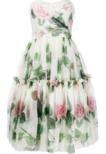 Dolce & Gabbana Vestido Midi Evasê - Neutro