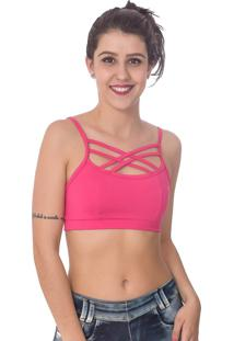 Top Vip Lingerie Strappy Rosa