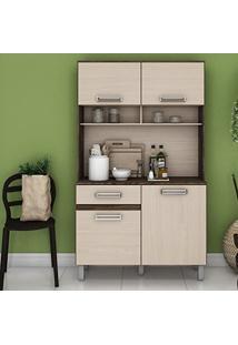 Armário Para Cozinha 3 Portas Com Tampo Briz Moka/Fendi Ii