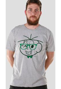 Camiseta Bandup! Turma Da Mônica Cebolinha Nerd - Masculino-Mescla
