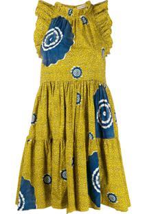Ulla Johnson Vestido Tamsin Sand Dollar De Algodão Com Estampa - Amarelo