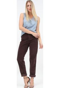 Blusa Jeans Com Ilhoses - Azul - Scalonscalon