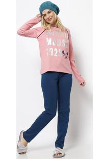 2d302c2b8 ... Pijama Minnie®- Rosa   Azul Marinhoevanilda