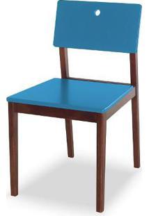 Cadeira Flip Cor Cacau Com Azul - 30822