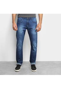 Calça Jeans Slim Forum Estonada Masculina - Masculino-Azul