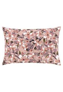 Capa De Almofada Colorida Estampada Rose Floral 55 X 35