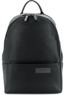Calvin Klein Leather Logo Backpack - Preto