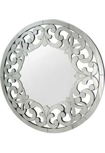 Espelho Veneziano Mandala Cor Prata Redondo 90 Cm - 34315 - Sun House