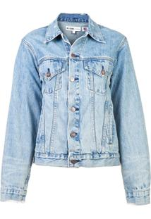 Re/Done Jaqueta Jeans Oversized - Azul