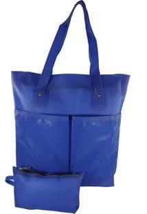 Bolsa De Praia Bag Dreams Impermeável Com Bolsos Azul Bic