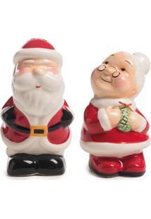 Saleiro E Pimenteiro Deco Natal Mamáe/Papai Noel 7Cm 9Cm - Tricae