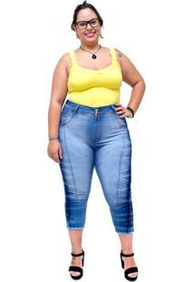 Calça Jeans Latitude Cropped Joselice Azul - Tricae