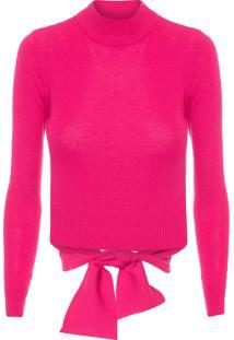 Blusa Feminina Tricot Amarração - Rosa