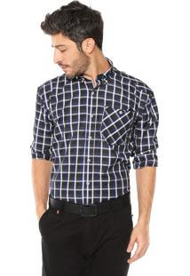 Camisa Wrangler Xadrez Azul/Preto