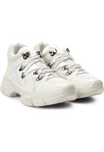 76f8b42f9 R$ 249,99. Netshoes Calçado Tênis Feminino Cano Longo Estampado Fashion  Recorte Alto Chunky ...