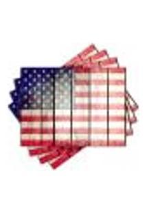Jogo Americano - Bandeira Estados Unidos Com 4 Peças - 933Jo