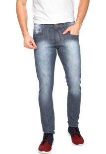 Calça Jeans Gangster Skinny Básica Azul