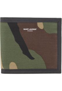 Saint Laurent Carteira Camuflada - Verde