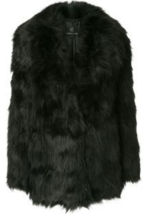 Unreal Fur Jaqueta 'Premium Rose' Com Pelos - Preto