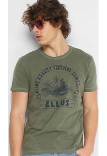 Camiseta Ellus Light Vintage Quality Masculina - Masculino-Verde Militar