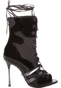 Sandal Boot Vinil Lace-Up Black | Schutz