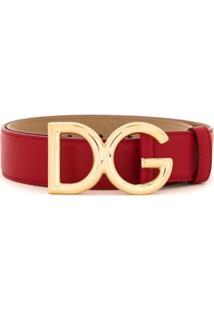 Dolce & Gabbana Cinto De Couro - Vermelho